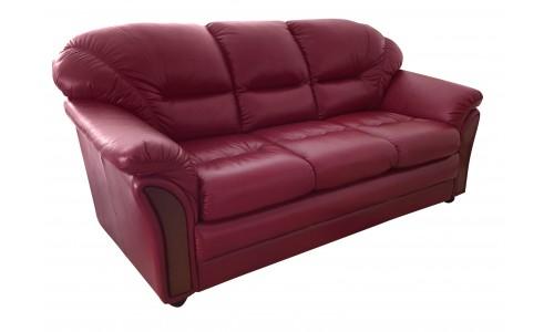 Кожаный прямой диван Plaza