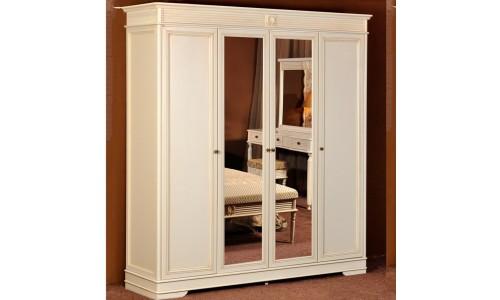 Шкаф Valencia 4х дверный распашной с 2мя зеркалами